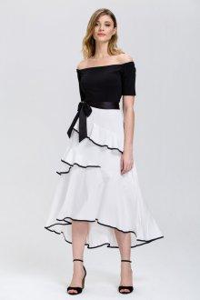 Вечерняя юбка черно-белая