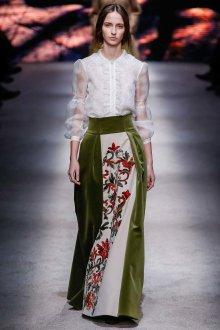 Вечерняя юбка комбинированная бархатная