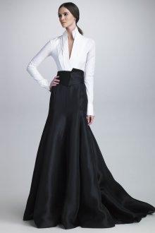 Вечерняя юбка с завышенной талией