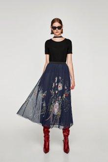 Вечерняя юбка с вышивкой