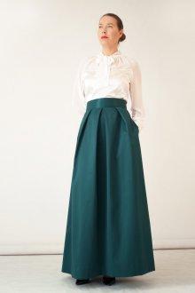 Вечерняя юбка зеленая