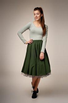 Вечерняя юбка зеленая пышная