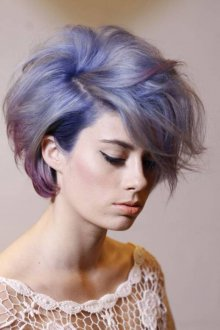 Короткая стрижка 2018 на синие волосы