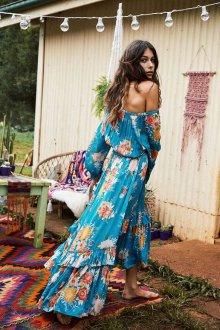 Платье бохо с цветами
