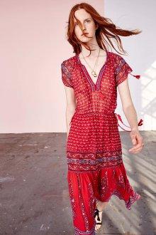 Платье бохо красное