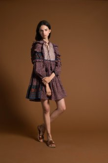 Платье бохо с оборками