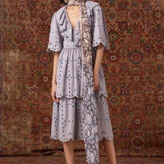 Платье бохо с перфорацией