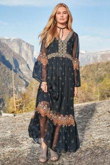 Платье бохо прозрачное