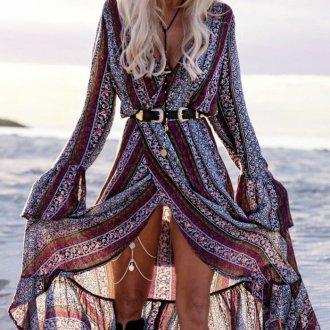 Платье бохо с рукавами
