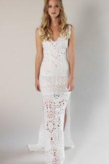 Платье бохо вязаное