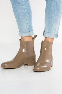 Резиновые ботинки бежевые