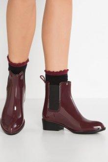 Резиновые ботинки бордо