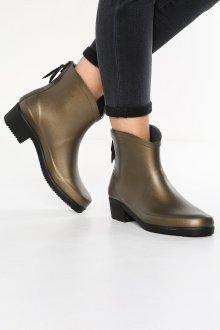 Резиновые ботинки бронзовые