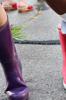 Резиновые сапоги цветные