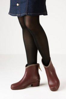 Резиновые ботинки на каблуке