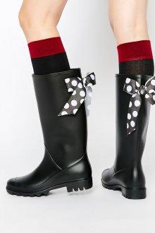 Резиновые ботинки с лентами