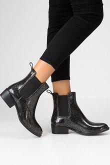 Резиновые ботинки с принтом