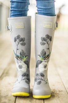 Резиновые ботинки с птицами