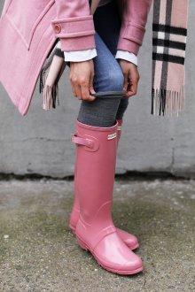Резиновые ботинки розовые