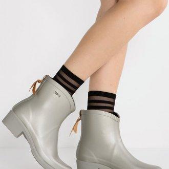 Резиновые ботинки серые