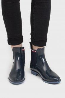Резиновые ботинки темные