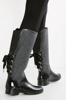 Резиновые ботинки высокие