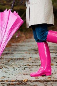 Резиновые ботинки яркие