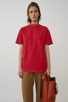 Красная футболка однотонная оверсайз