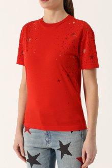 Красная футболка прозрачная