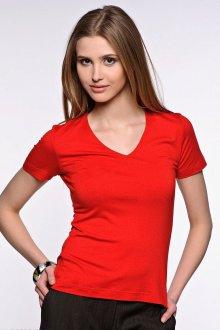 Красная футболка стрейч