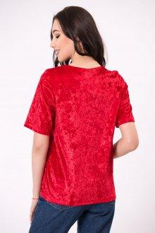 Красная футболка велюровая
