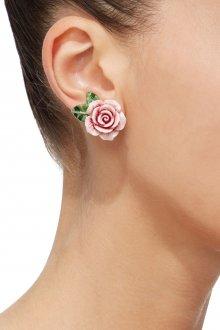Серьги гвоздики в виде розы