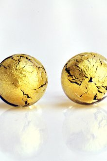 Серьги гвоздики золотые