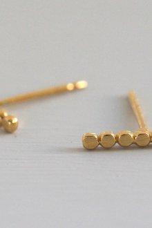 Серьги гвоздики из золота