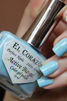 Голубой маникюр на квадратные ногти