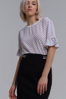 Блузка в горошек с коротким рукавом