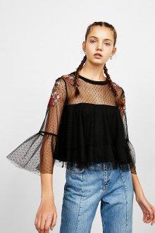 Блузка в горошек прозрачная