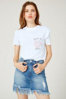 Юбка с футболкой джинсовая