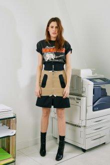 Юбка с футболкой комбинированная