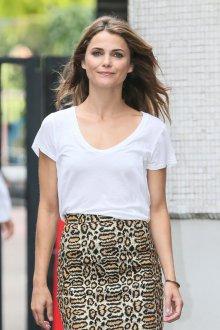 Юбка с футболкой леопардовая
