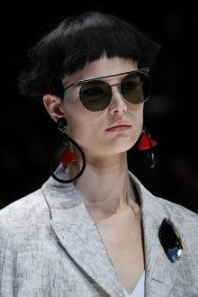 Круглые очки черные в металлической оправе