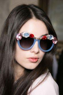 Круглые очки с камнями