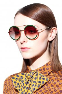 Круглые очки с красными линзами