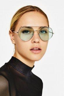 Круглые очки с цветными линзами
