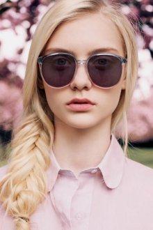 Круглые очки розовые