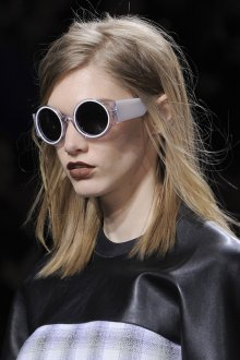 Круглые очки серые