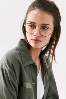 Круглые очки в тонкой оправе