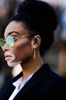 Круглые очки золотые