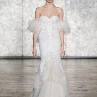 Свадебное платье рыбка бюстье