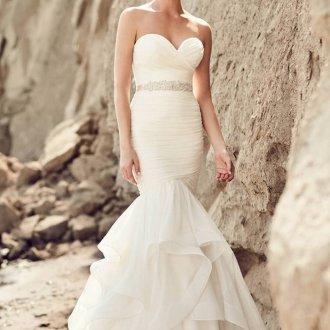 Свадебное платье рыбка классическое